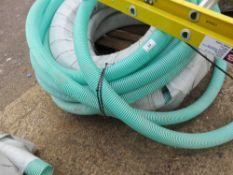 2 X ROLLS OF 2 INCH PVC SUCTION HOSE PLUS 1.5 ROLLS OF 3 INCH SUCTION HOSE.