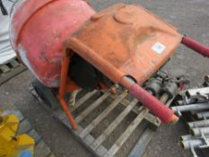 BELLE PETROL ENGINED MINI MIXER WITH STAND.