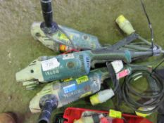 3 X 110 VOLT ANGLE GRINDERS.
