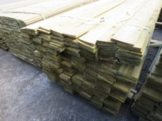 1 X PACK OF 1.76M X 10CM WIDE APPROX FEATHER EDGE TIMBER CLADDING