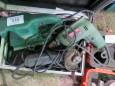 2 X SANDERS PLUS DRILL AND ANGLE GRINDER.