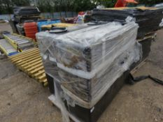 2 x eco-sure plastic water tanks with lids.
