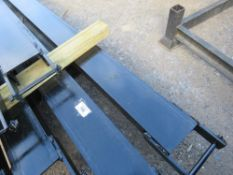 PAIR OF 2.5 M LONG FORKLIFT EXTENSION TINES (UNUSED).