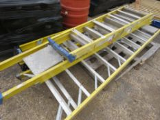 4 X ASSORTED GRP STEP LADDERS.