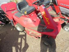 COUNTAX RIDER RIDE ON MOWER WITH COLLECTOR. WHEN TESTED WAS SEEN TO TURN OVER BUT NOT STARTING.