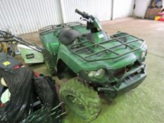 KAWASAKI KVF750 4WD QUAD BIKE, YEAR 2006. WHNE TESTED WAS SEEN TO DRIVE, STEER AND BRAKE. NO VAT ON