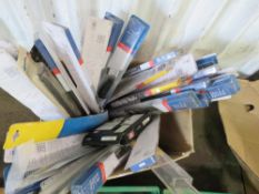 BOX OF ASSORTED WIPER BLADES.