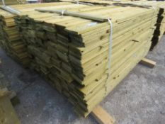 1 X PACK OF 1.65M X 10CM WIDE APPROX FEATHER EDGE TIMBER CLADDING