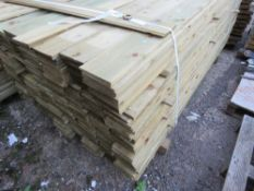 LARGE PACK OF 1.8 X 10CM FEATHER EDGE TIMBER (APPROX)
