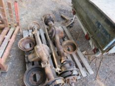 LANDROVER SERIES 2 FRONT AND REAR AXLES.