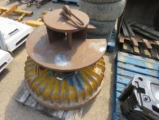 Electro magnet plus top hat unit for scrap handling, working when removed, unused for two years