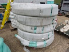 5 X ROLLS OF 3 INCH PVC SUCTION HOSE. 30 METRES LONG APPROX EACH.