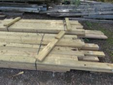 2 X BUNDLES OF PRE USED DE-NAILED 4X2 TIMBER. MAJORITY BEING 2.4-3M LENGTH APPROX. 32 PIECES IN EACH