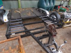 CAR TRAILER, 12FT LENGTH APPROX.