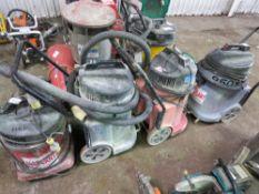 4 X 110VOLT VACUUM CLEANERS.