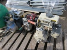 3 X SMALL ASSORTED WATER PUMPS.