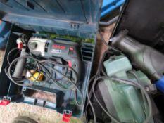 2 X BOSCH 110 VOLT DRILLS PLUS RECIP SAW, PLANER AND JIGSAW.