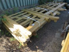 PALLET CONTAINING 10 X ASSORTED SIZED WOODEN FIELD AND ENTRANCE GATES. 0.5M - 3.6M