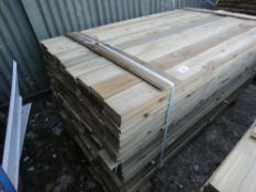 LARGE PACK OF 1.79 X 10CM FEATHER EDGE TIMBER (APPROX)
