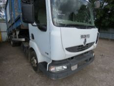 RENAULT MIDLUM 190 7.5TONNE TIPPER REG:BU08 FCG. WITH TAIL LIFT. MESH SIDES. 184,202 REC KMS. WITH V