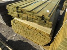 2 X PACKS OF FENCING TIMBER. 1 X FEATHER EDGE 1.34M LENGTH, 1 X SHIPLAP 1.42M LENGTH.