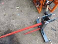 3 POINT LINKAGE TRACTOR MOUNTED BALE SPIKE DIRECT EX SITE CLOSURE.