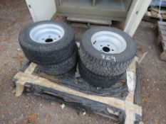4 X BRIAN JAMES LOW LOADER TRAILER WHEELS AND TYRES SIZE 195/55R10C .