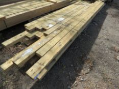 1 X BUNDLE OF PRE USED DE-NAILED 4X2 TIMBER, MAJORITY BEING 2.1-3M LENGTH. APPROX 32 IN EACH PACK.