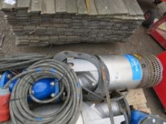 FLYGHT 3 PHASE SUBMERSIBLE WATER PUMP 2640.180 COMPLETE WITH OUTLET MANIFOLD. DIRECT FROM LOCAL COM