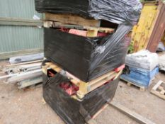 2 X STILLAGES OF FIRE FIGHTING EQUIPMENT PLUS HOLDERS. DIRECT FROM SITE CLEARANCE/DEPOT CLOSURE.
