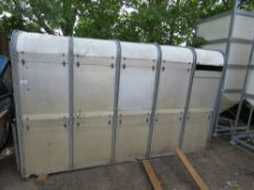 IFOR WILLIAMS 10 FOOT CATTLE BOX WITH DROP DOWN TAILGATE AND REAR GATES.
