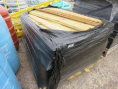 PALLET OF FEATHER EDGE TIMBER MAJORITY BELIEVED TO BE APPROX 1.65M.