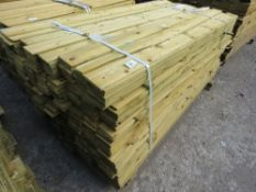 1 X PACK OF 1.79M X 10CM WIDE APPROX FEATHER EDGE TIMBER CLADDING