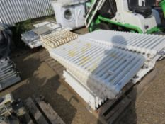 3 X PALLETS OF CAST IRON AND OTHER RADIATORS.