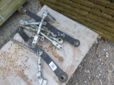 PALLET CONTAINING COMPACT TRACTOR LINK ARMS ETC.