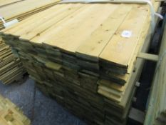 1 X PACK OF 1.49M X 10CM WIDE APPROX FEATHER EDGE TIMBER CLADDING