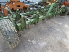 """TRACTOR MOUNTED """"C"""" TINE SPRUNG CULTIVATOR 14 FOOT WIDTH APPROX. DIRECT FROM DEPOT CLOSURE."""