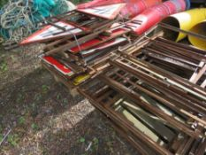PALLET OF ROAD SIGNS PLUS A PALLET OF SIGN FRAMES. SOURCED FROM SITE CLEARANCE.