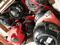 8 X SMALL SIZED 110VOLT HENRY VACUUMS, CONDITION UNKNOWN.