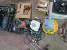 QUANTITY OF ASSORTED ELECTRICAL ITEMS TO INCLUDE DRILL, FAN HEATER,RECIP SAW ETC.