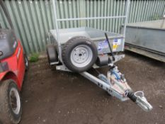 IFOR WILLIAMS TT2012 SINGLE AXLE TIPPER TRAILER. YEAR 202, UNUSED. 1500KG RATED. WITH REGISTRATION P
