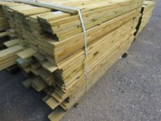 1 X PACK OF 1.73M X 10CM WIDE APPROX FEATHER EDGE TIMBER CLADDING