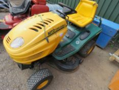 MTD YARDMAN RIDE ON MOWER, HYDROSTATIC DRIVE. WHEN TESTED WAS SEEN TO RUN, DRIVE AND MOWERS TURNED (