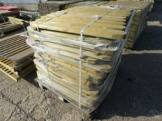 LARGE PALLET OF PLAYGROUND FENCING TIMBER 90CM HEIGHT X 9.5CM WIDTH.