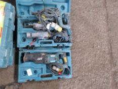 1 X MAKITA 110VOLT RECIPROCATING SAW PLUS 2 FOR SPARES.