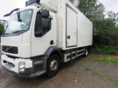 VOLVO 18 TONNE FRIDGE LORRY REG:KN59 XGB. MANUAL GEARBOX. 235,090 REC KMS. SUPPLIED WITH V5 . WHEN T