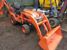 KUBOTA BX25D COMPACT TRACTOR WITH LOADER AND BACKHOE. 51 REC HRS. SN:50986. YEAR 2016 BUILD, COMMISS
