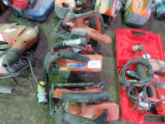 3 X HILTI BATTERY CIRCULAR SAWS, INCOMPLETE.