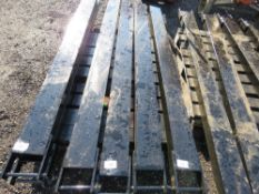 PAIR OF FORKLIFT EXTENSION TINES, 2 METRE LENGTH.