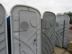 PORTABLE SITE TOILET WITH BASIN.